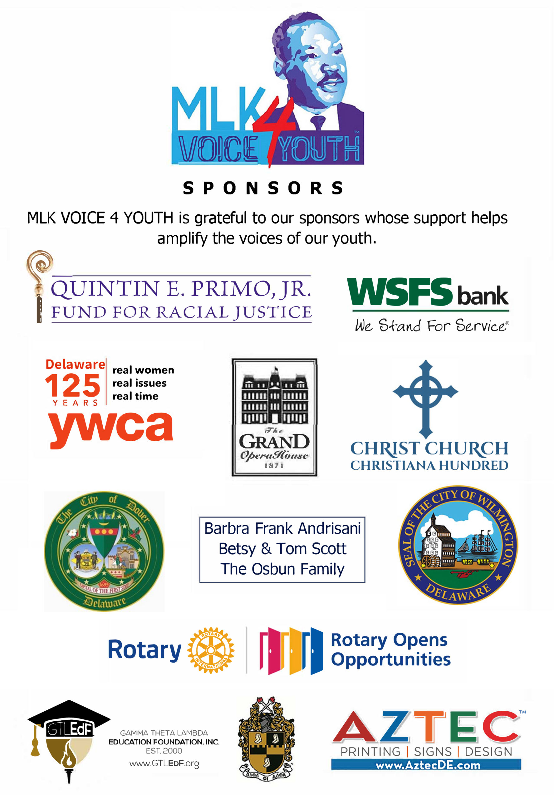 MLK VOICE4YOUTH Sponsors
